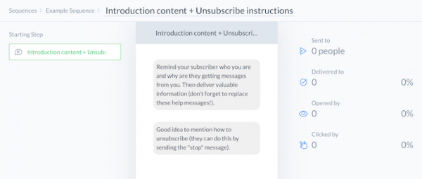 ManyChat introduction and unsubscribe instructions