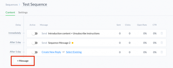 ManyChat add new message to sequence