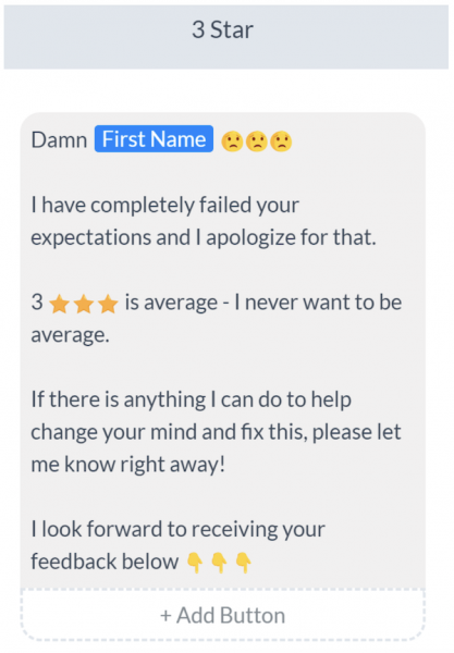 generate customer reviews | manychat bot builder review example