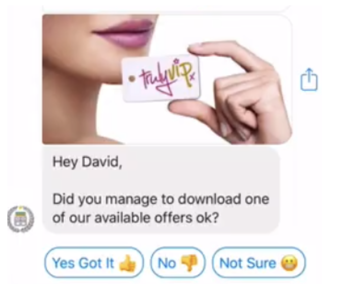 messenger loyalty program example in manychat